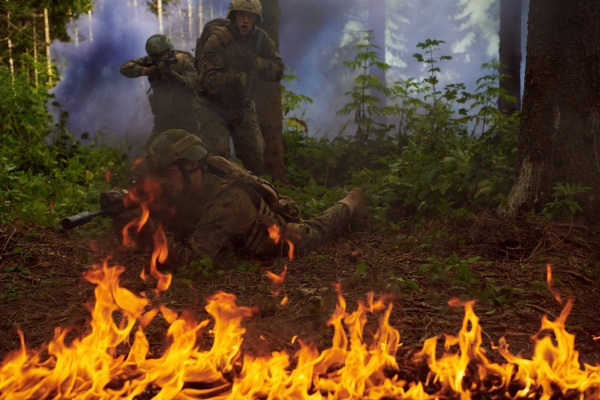modern warfare soldiers squad im kampf