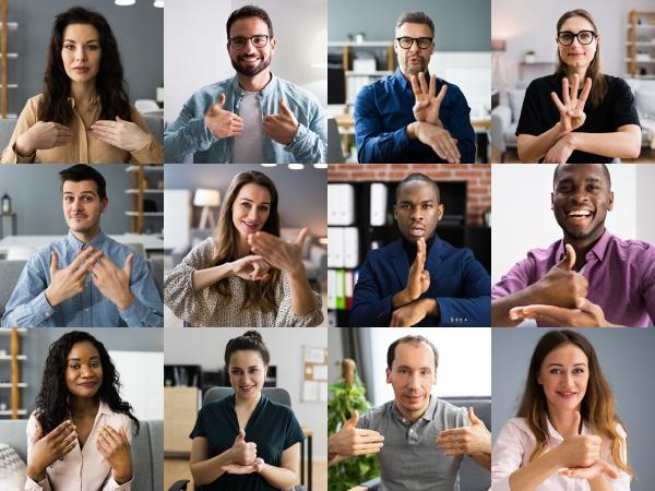 menschen, die, gehörlose, gebärdensprache, lernen - 29815413