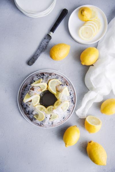 zitrone blaubeer bundt kuchen