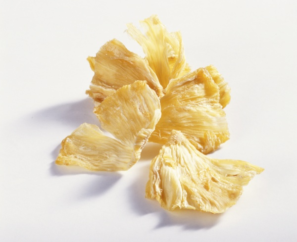 getrocknete ananasstuecke
