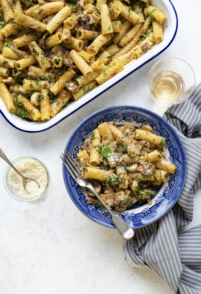 rindfleisch stroganoff pasta bake