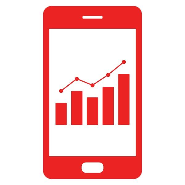 chart und smartphone