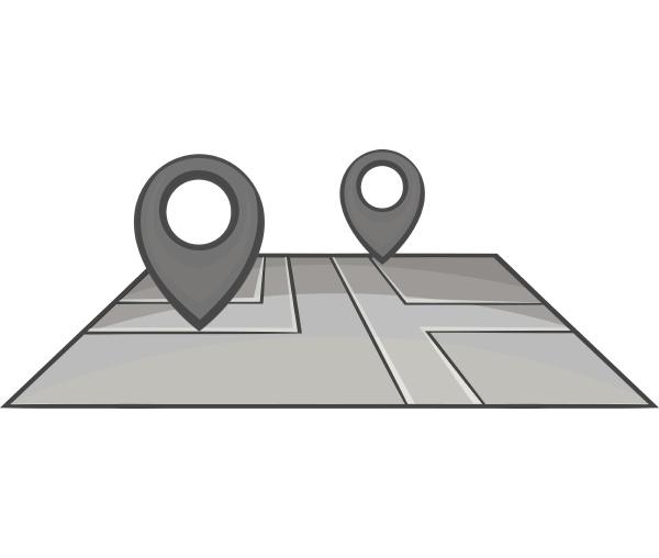 gps-markierungen, auf, kartensymbol, schwarzer, monochromer, stil - 30032110