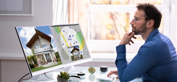 mann auf der suche nach immobilien