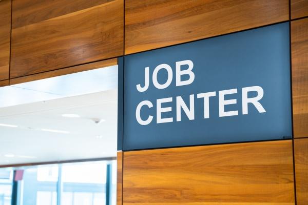 jobcenter sign arbeitslosenzentrum