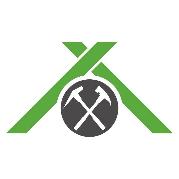dach und werkzeuge haus dachdecker logo