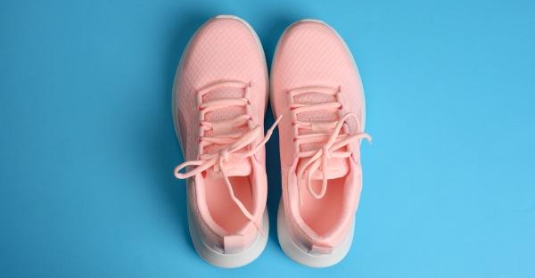 rosa, damen, sneakers, mit, schnürsenkeln, auf - 30163234