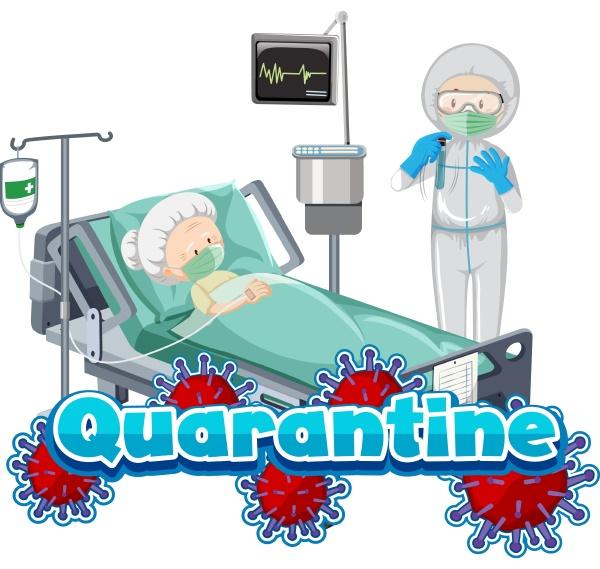 AEltere person im krankenhausbett