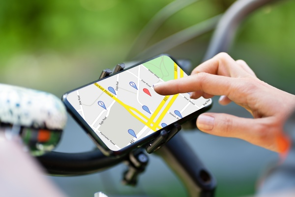 fahrrad gps navigator app mit karte