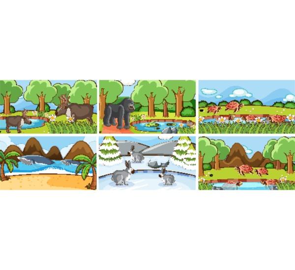 hintergrundszenen, von, tieren, in, freier, wildbahn - 30361896