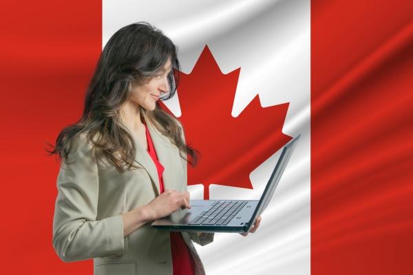 freelance, in, canada, beautiful, young, woman - 30363181