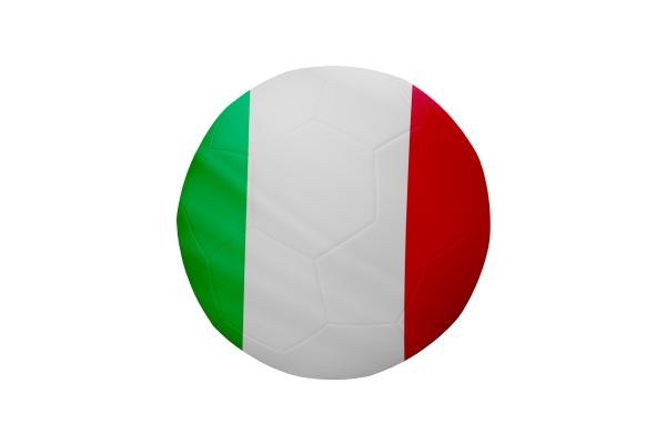 fussball in den farben der italienischen