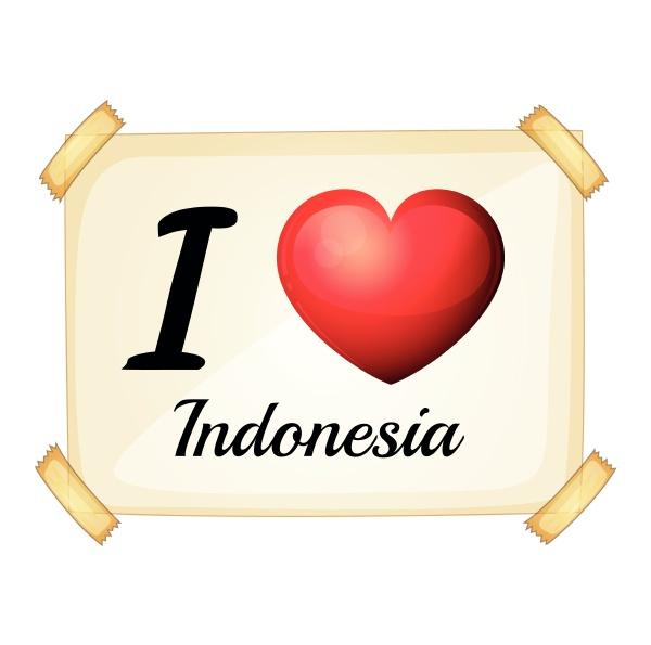 ich liebe indonesien
