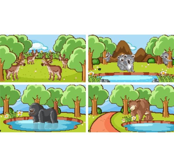 hintergrundszenen, von, tieren, in, freier, wildbahn - 30376935