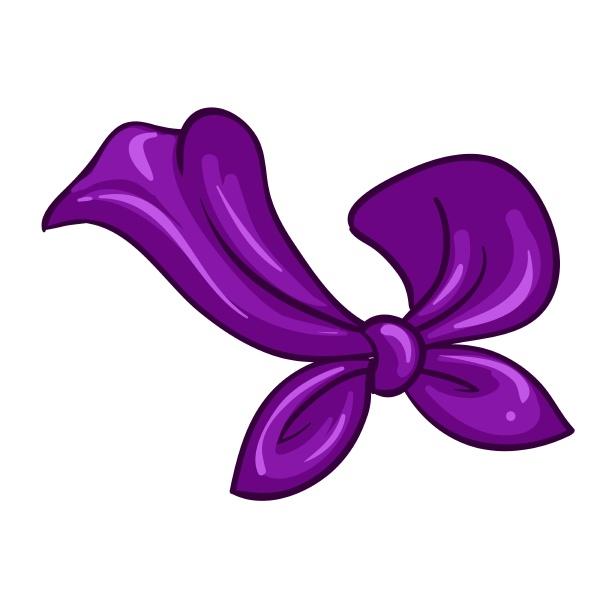 ein violetter schal