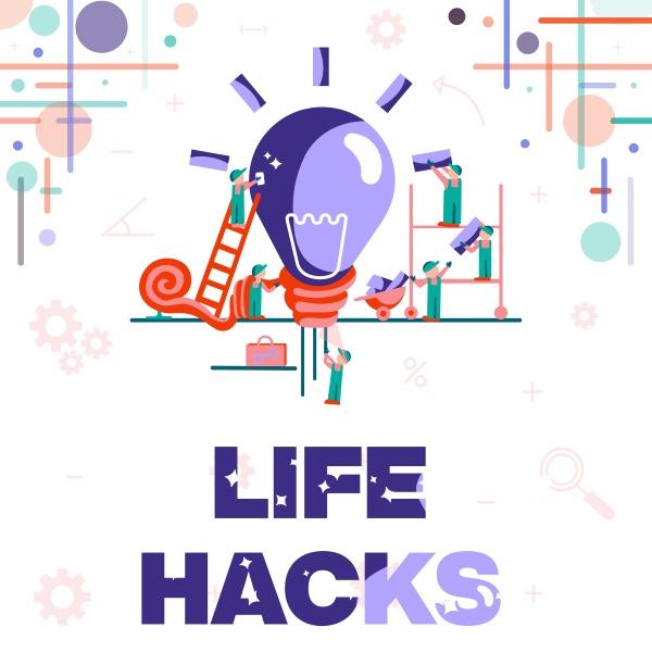 text, der, inspiration, life, hacks, zeigt., geschäftsübersichtsstrategie - 30448460