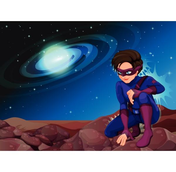 ein gutaussehender superheld
