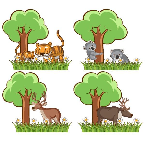 set, of, wild, animals, in, the - 30458883
