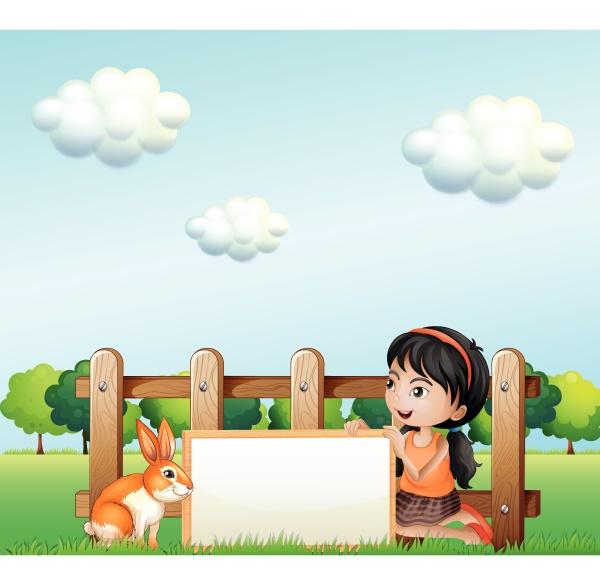 a, girl, holding, a, framed, banner - 30492683