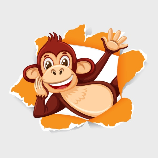 background, template, design, with, wild, monkey - 30506293