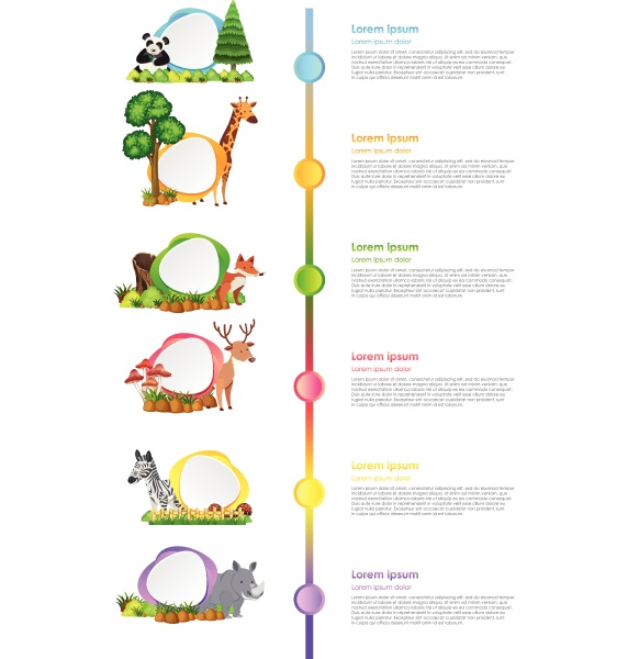 infographic, design, with, wild, animals, and - 30508449