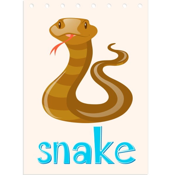 wordcard, with, wild, snake - 30508800