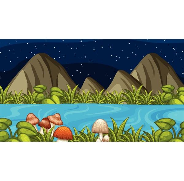eine natur nachtlandschaft