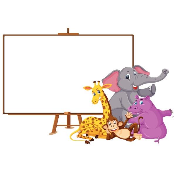 wild, animals, cartoon, character, and, blank - 30517895