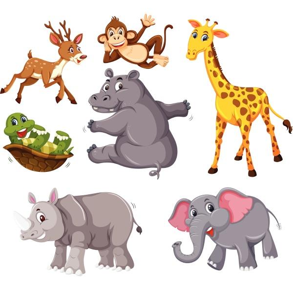 eine, reihe, von, wilden, tieren, auf - 30532131