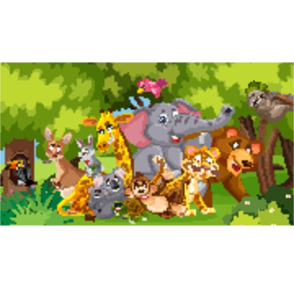 scene, with, many, wild, animals, in - 30542406