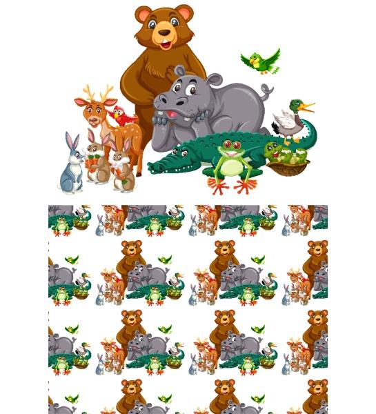 seamless, background, design, with, wild, animals - 30558602
