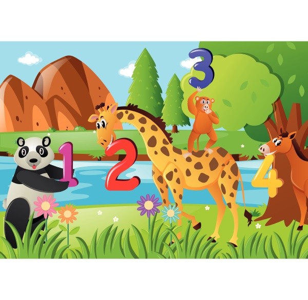 counting, numbers, with, wild, animals - 30559669