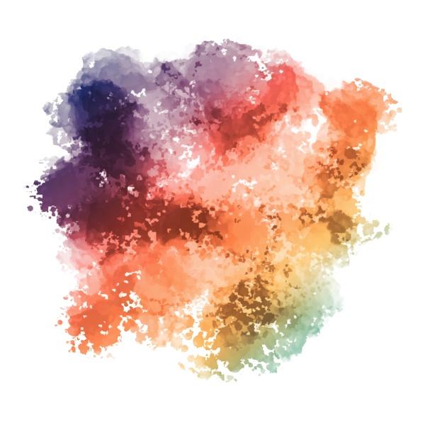 farbenfroher hintergrund mit aquarelltextur