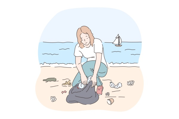 collecting, garbage, , saving, ecosystem, , environment, cleaning - 30604419
