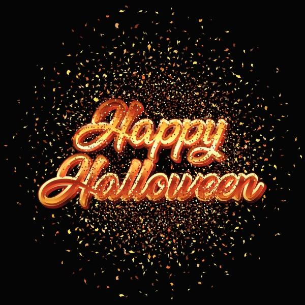 happy halloween glitzer konfetti hintergrund 0808