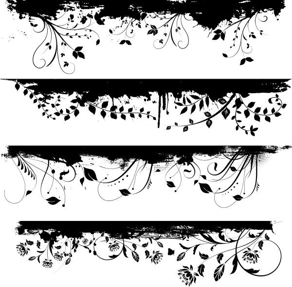 florale grunge designelemente