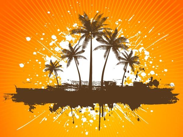 grunge, palmen - 30627509