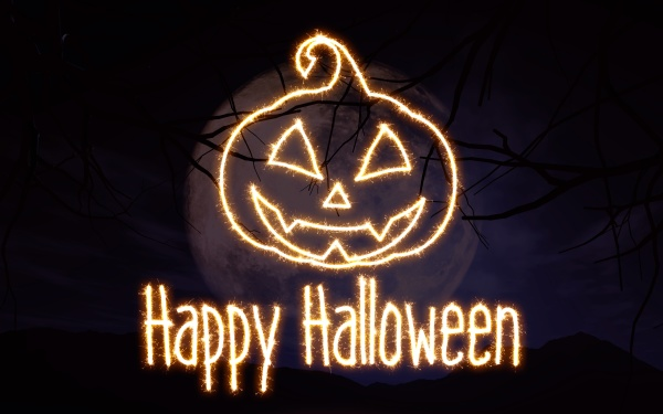 3d sparkle effekt halloween hintergrund