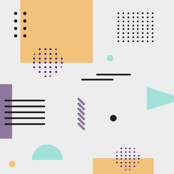 abstrakter hintergrund mit verschiedenen geometrischen formen