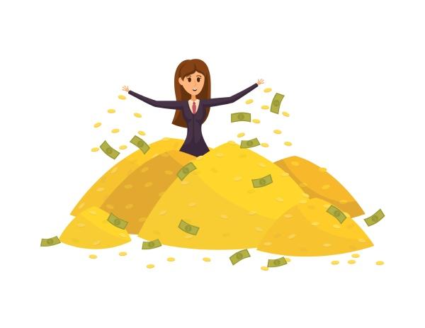 geld, erfolg, profit, menschen, reichtum, geschäftskonzept. - 30667239