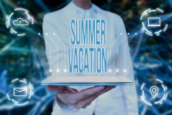 conceptual, display, summer, vacation., word, for - 30726951