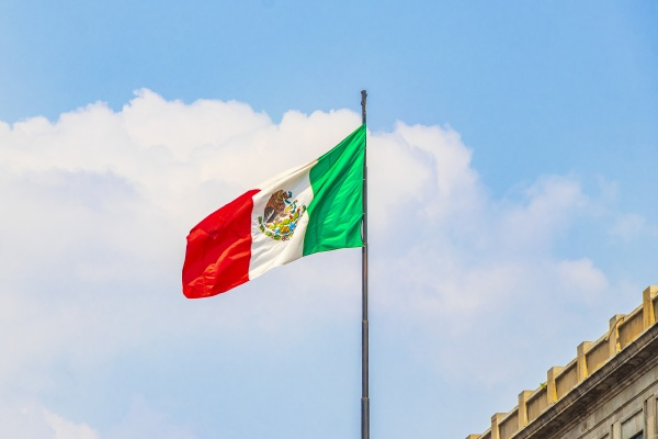 mexican, flag, green, white, red, with - 30729253