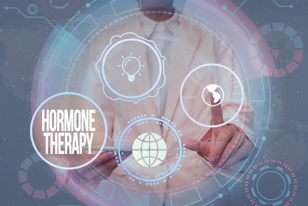 konzeptionelle anzeige hormontherapie geschaeftsansatz behandlung von