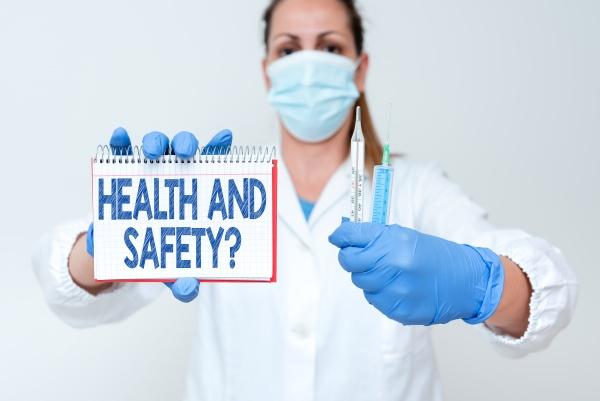 konzeptionelle bildunterschrift gesundheits und sicherheitsfrage