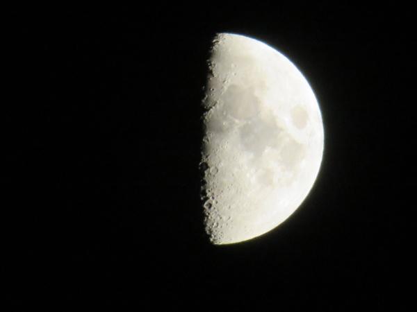 schoene halbmond viertelmond krater mars reflexion