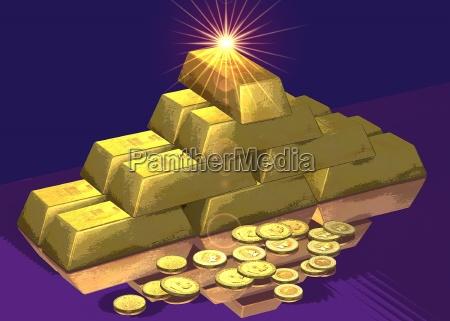goldbarren stilisiert