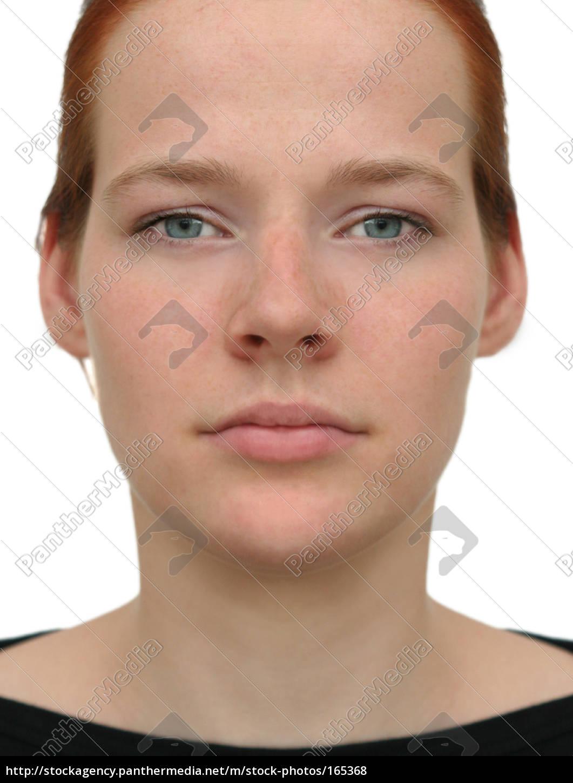 Perfektes Gesicht Ohne Raster Lizenzfreies Foto 165368