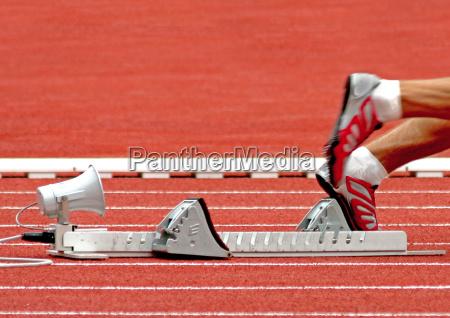 detail sport piste bahn spur sportler