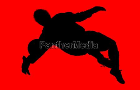 red black fussballer