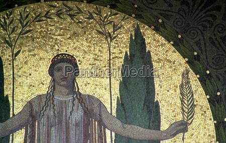 art antique painting munich city mosaics